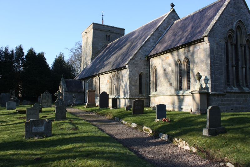 Ingram Church in sunshine