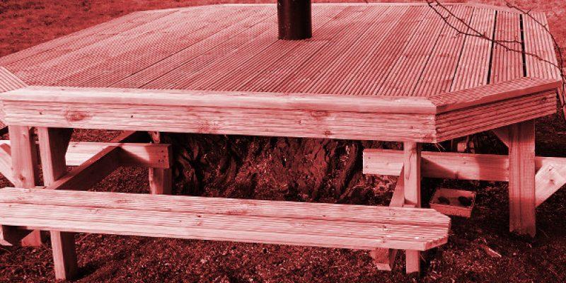 New seating in Community Garden