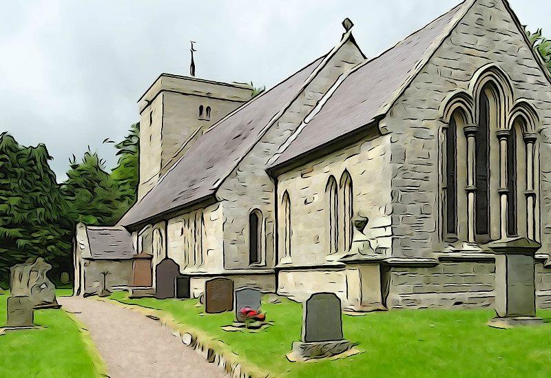 Ingram church watercolour