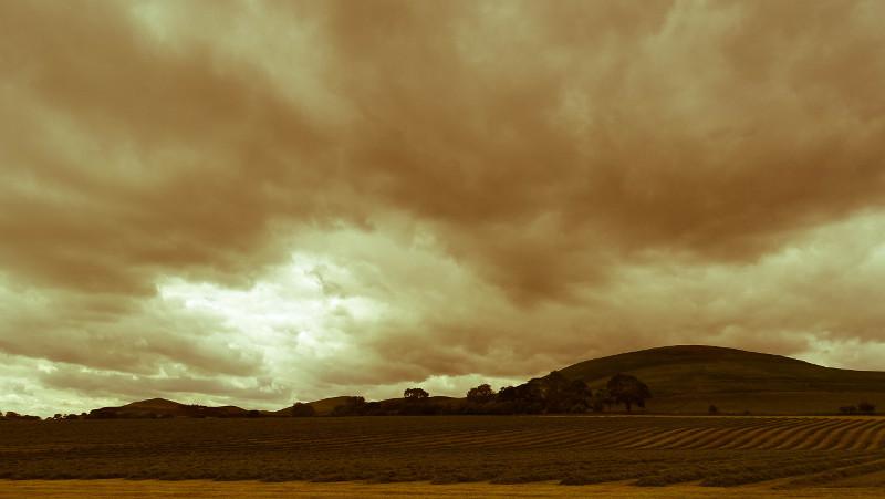 Breamish Valley sky near Branton