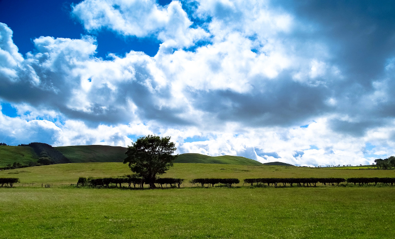 Breamish Valley sky near Ingram