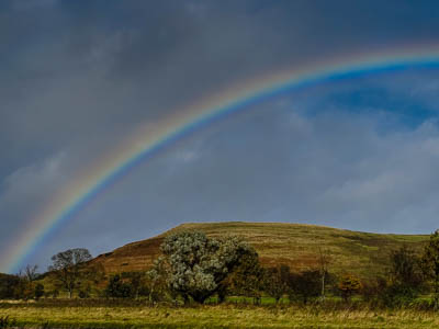 rainbow along Breamish Valley