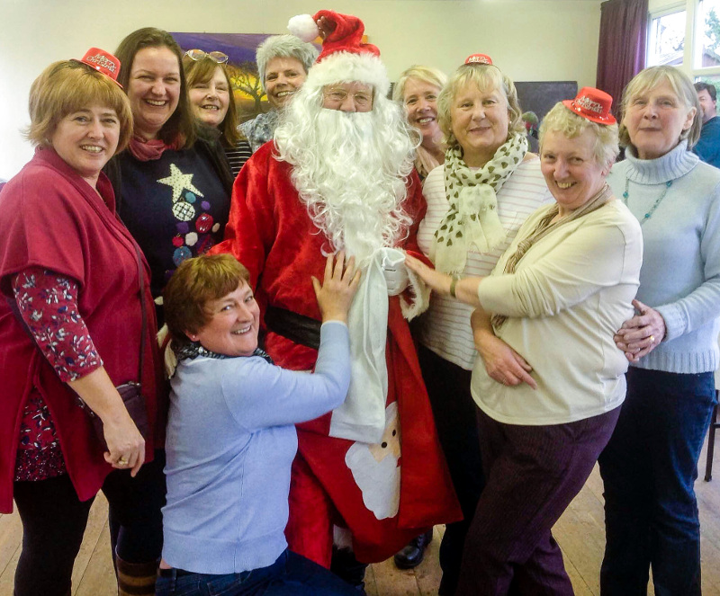 Santa and Hedgeley WI members