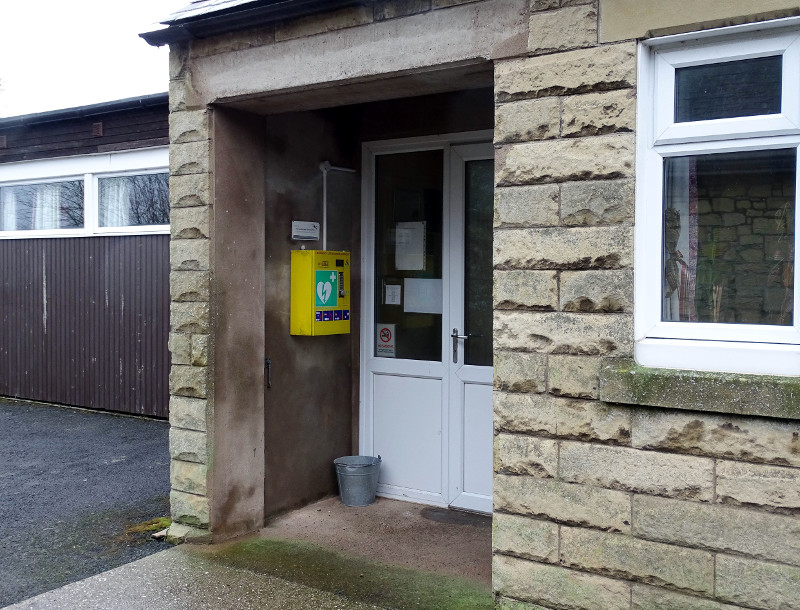 defibrillator relocated to Breamish Hall Powburn