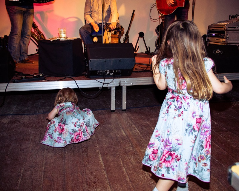 Iona Grace and Ame Melise in the mosh pit