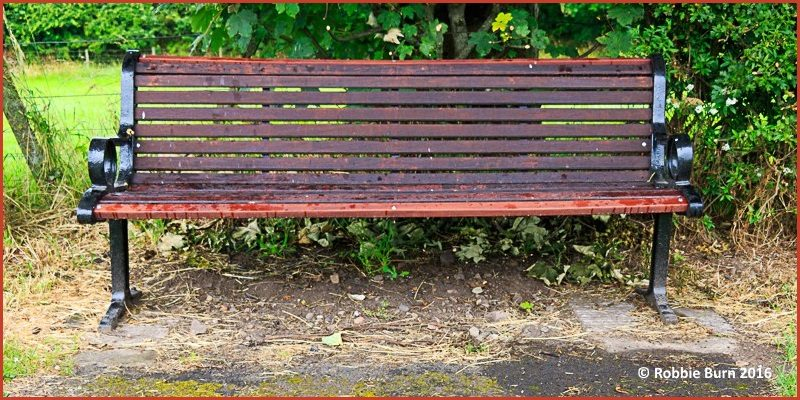 Powburn bench restored