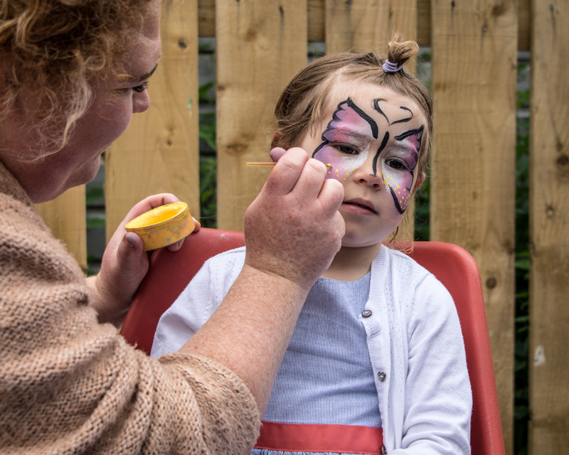 face painting almost completed