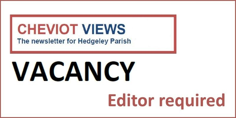 Cheviot Views Editor Vacancy
