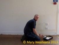 Alistair emulsioning the walls