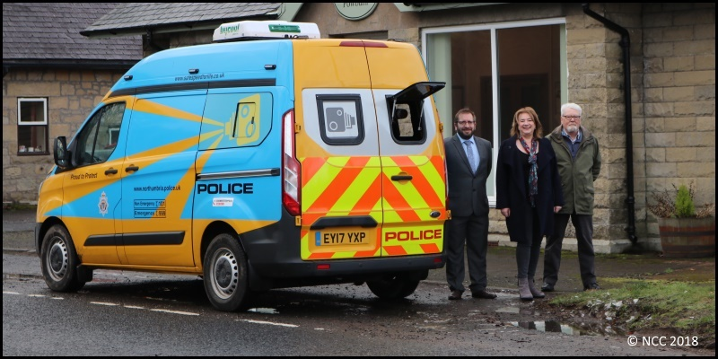 camera van deployed in Powburn