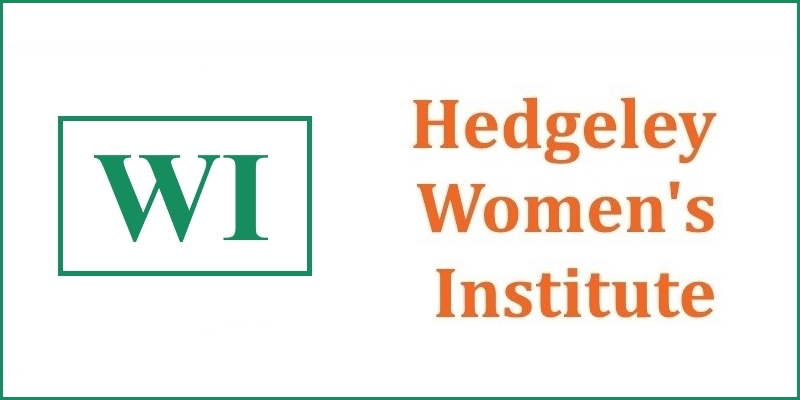 Graphic with WI logo and the words 'Hedgeley Women's Institute'