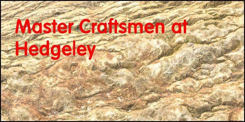 Master craftsmen at Hedgeley