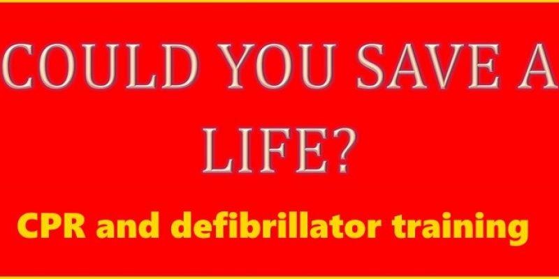 CPR and defibrillator training (23 Nov 2015)