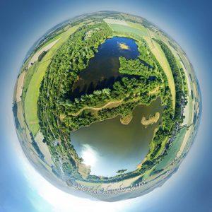 Branton Lakes Tiny Planet 100m 2000px c. David Hanks 2018