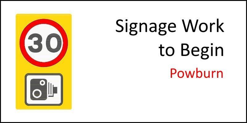 Powburn Road Signage Work to Begin