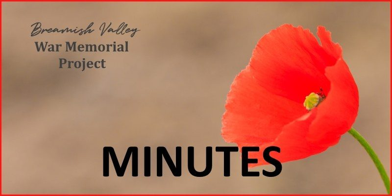 Breamish Valley War Memorial Project Minutes (Jan 2018)