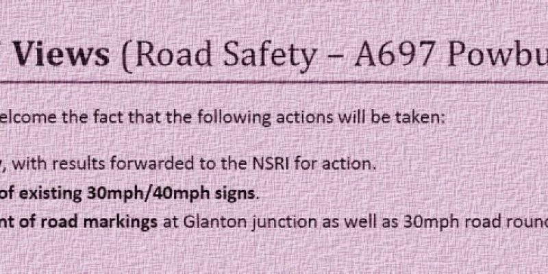 Reply to NCC Road Safety Report