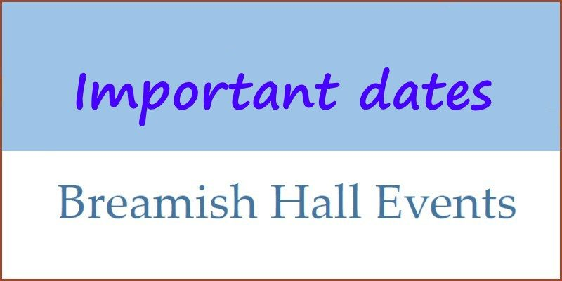 Breamish Hall Events 2018