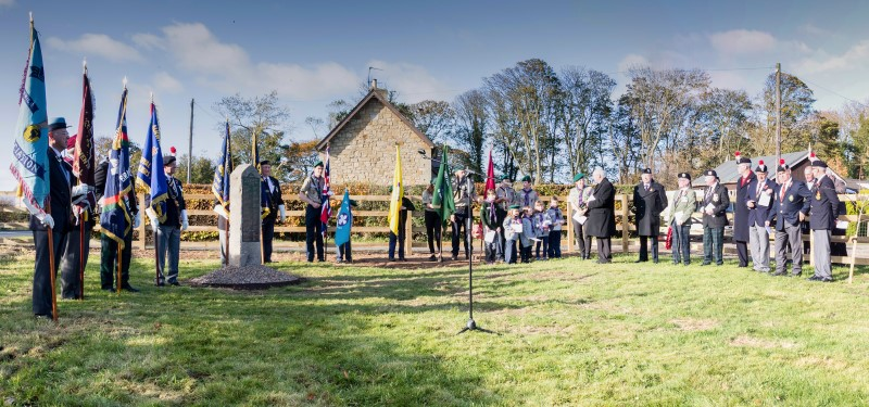 Breamish Valley War Memorial dedicated ceremony 2018