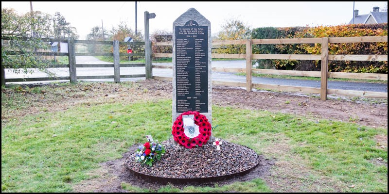 Breamish Valley War Memorial dedicated header