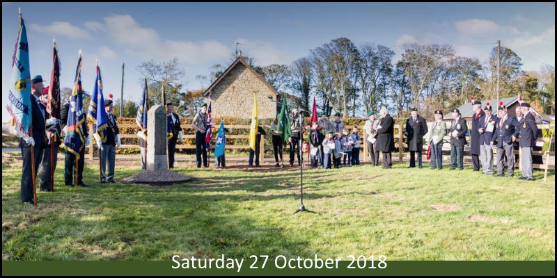 War Memorial dedication gallery header