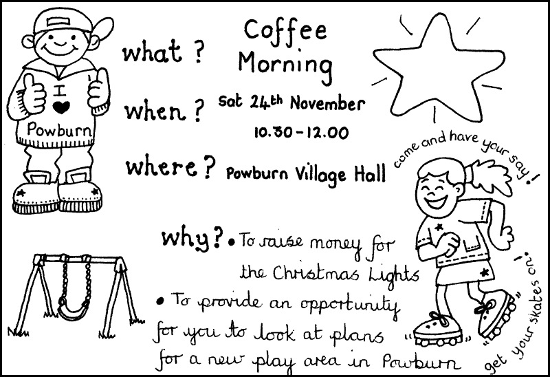Coffee Morning Breamish Hall Nov 2018 poster