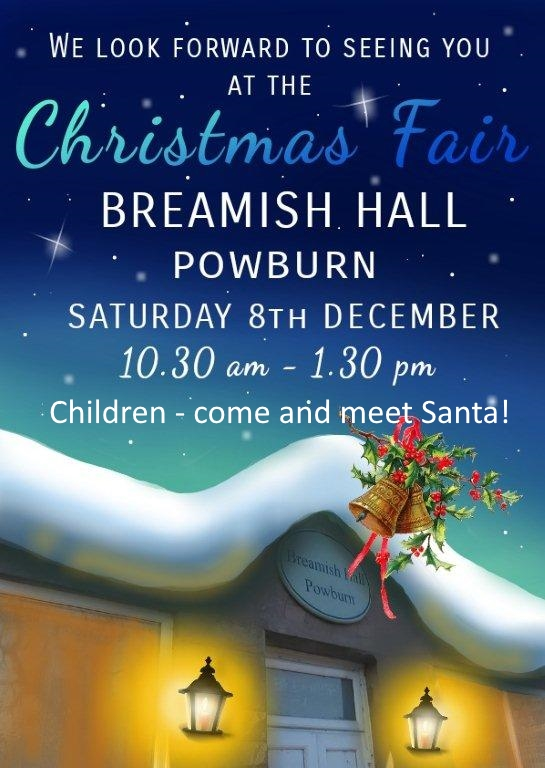 Powburn Christmas Fair 2018 poster v2