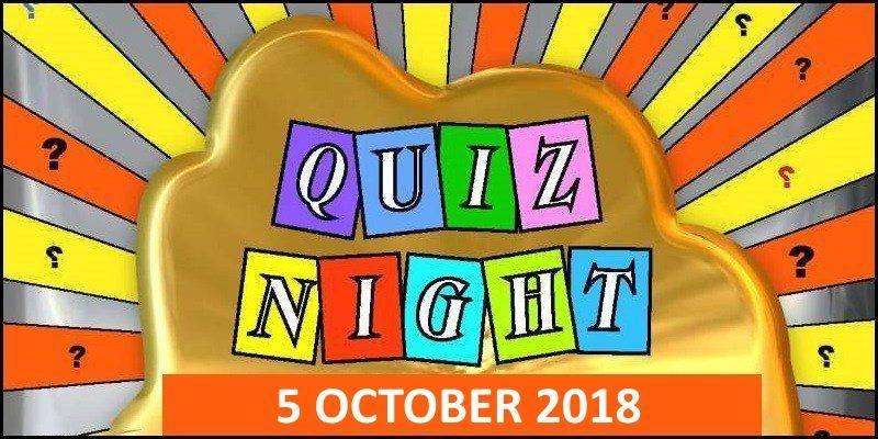 Quiz Night Oct 2018