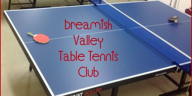 Breamish Valley Table Tennis Club starts March 2016