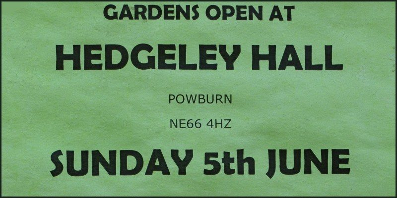 Hedgeley Hall Garden Open 2016