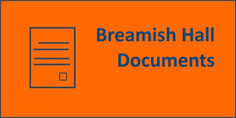 Breamish Hall Documents