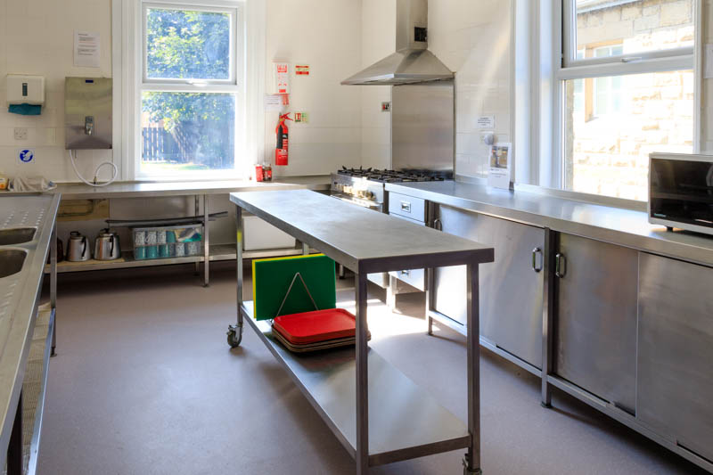 Photo of kitchen showing mobile work area