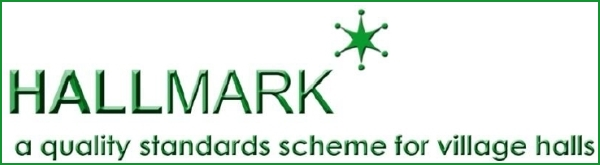 Logo for the Hallmark standards scheme for village halls