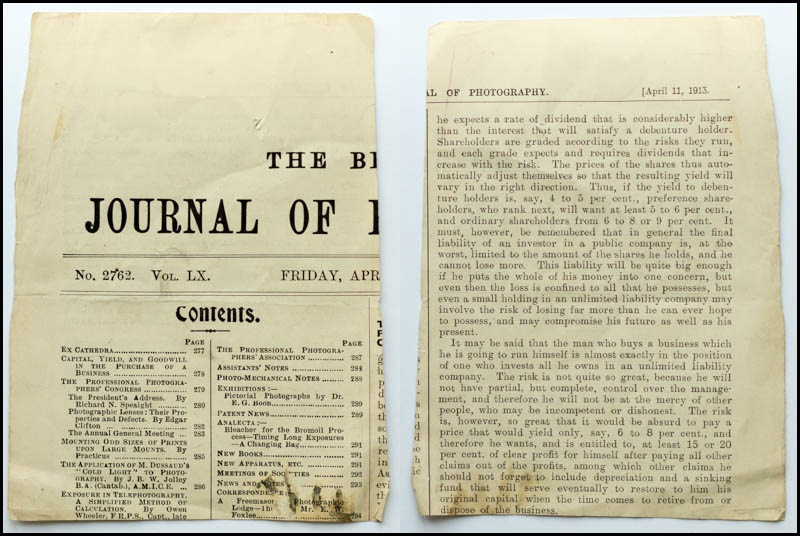 The British Journal of Photography April 11, 1913