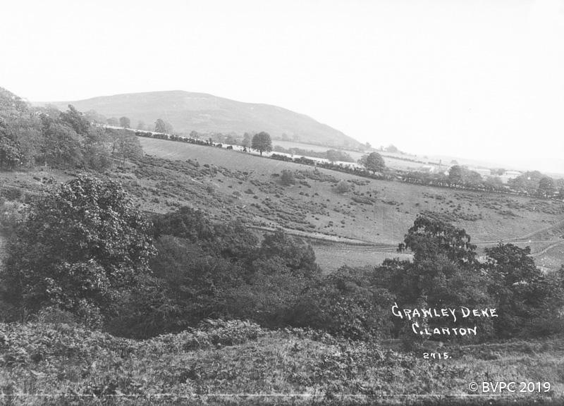 Vintage black and white photo of Crawley Dene