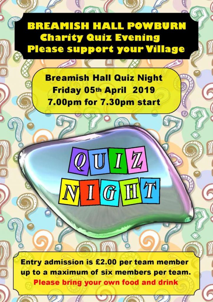 Charity Quiz Evening poster