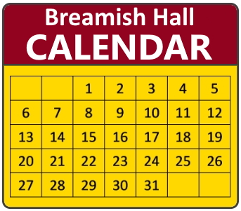 Breamish Hall calendar badge