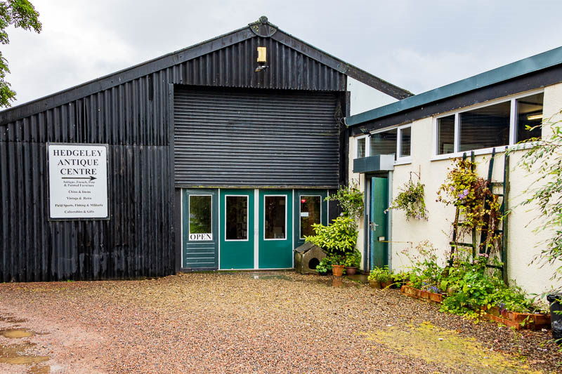 Photo of outside of Hedgeley Antique Centre building