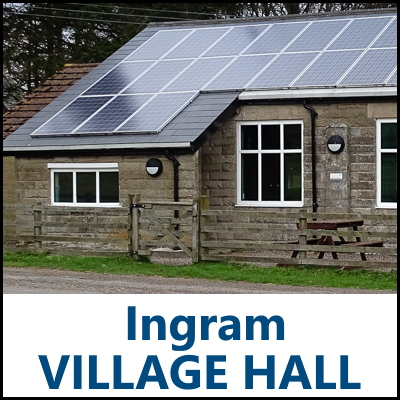 Ingram Village Hall Northumberland badge