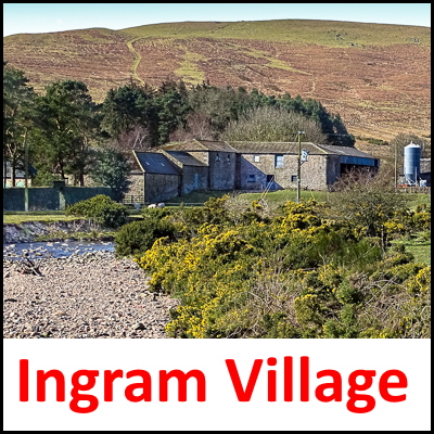 Ingram Village Northumberland UK badge