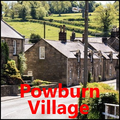 Powburn Village Northumberland badge