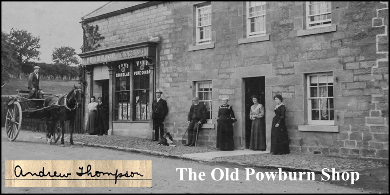 The Old Powburn Shop header 2