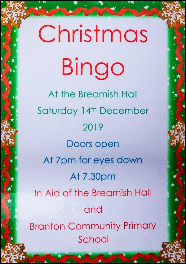 Christmas Bingo 2019 poster