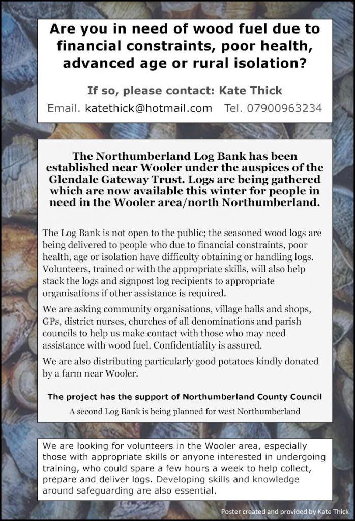 Log Bank (Wooler) poster