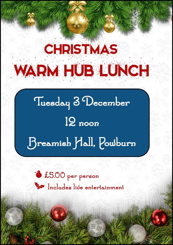 Christmas Warm Hub Lunch 2019 poster