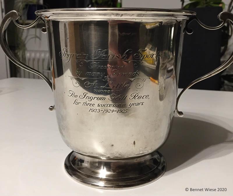 Ingram Parish Sports silver trophy 1923-1925