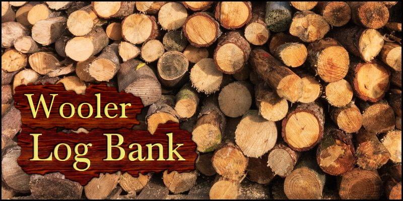 Wooler log bank header