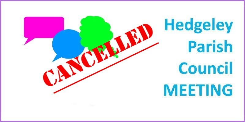 Hedgeley Parish Council Meetings CANCELLED