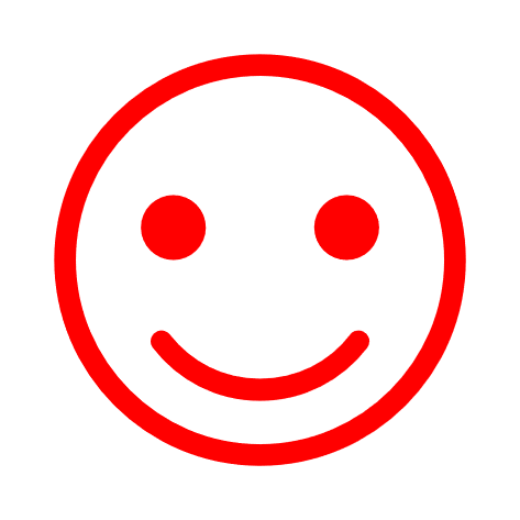 red smiley face icon