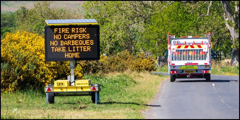 Fire Risk Breamish Valley!